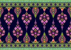 Muster von Blumen und von Blättern Lizenzfreies Stockbild