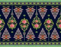 Muster von Blumen und von Blättern Lizenzfreie Stockbilder