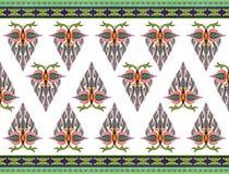 Muster von Blumen und von Blättern Lizenzfreie Stockfotografie