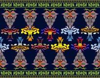 Muster von Blumen und von Blättern Stockfotos