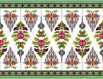 Muster von Blumen und von Blättern Stockfotografie