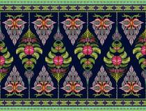 Muster von Blumen und von Blättern Stockbilder