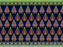 Muster von Blumen und von Blättern Lizenzfreies Stockfoto