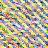 Muster von bunten abstrakten geometrischen Formen Stockbild
