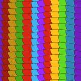 Muster von bunten Linien stock abbildung