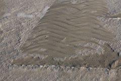 Muster von Dünen im Winter Lizenzfreie Stockfotos