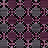 Muster von den geometrischen Zahlen in der rosa Farbe Stockfoto