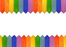 Muster von den mehrfarbigen scharfen Brettern mögen einen Regenbogen Lizenzfreie Stockbilder