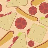 Muster von den Sandwichen Lizenzfreie Stockfotos