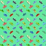 Muster von den Schuhen vom verschiedenen der Farbe Stockfotos