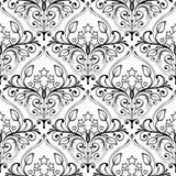 Muster von den Sternen und von den Blumen Lizenzfreies Stockfoto