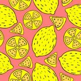 Muster von den Zitronen Stockbild