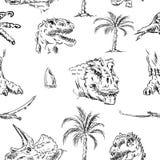 Muster von Dino-Kopf Lizenzfreie Stockfotografie