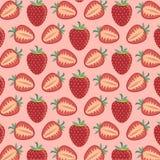 Muster von Erdbeeren - Vektorillustration Lizenzfreie Stockfotografie