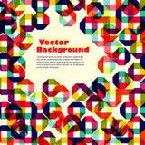 Muster von farbigen geometrischen Elementen mit Platz für Ihren Text Lizenzfreies Stockfoto
