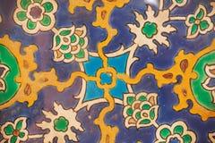 Muster von Fliesen des 16. Jahrhunderts in der Osmaneart Lizenzfreie Stockfotos