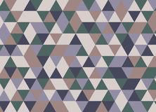 Muster von geometrischen Formen Dreieckhippie-Hintergrund Colorf Stock Abbildung