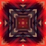 Muster von geometrischen Formen, geometrischer Hintergrund mit Fluss des Spektrumeffektes, blaue Farbe, Vektor Stockbild