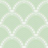 Muster von Girlanden des weißen Maiglöckchens Stockbilder
