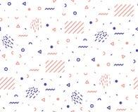 Muster von grafischen Elementen in einer Hippie-Art Stockfotos