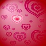 Muster von Herzen Stockfoto