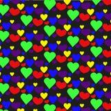 Muster von Herzen für Geschenke Stockbilder