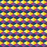 Muster von Hexagone verschiedenen collours lizenzfreie abbildung
