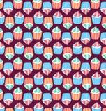 Muster von kleinen Kuchen Stockfotos