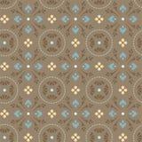 Muster von Kornblumen in den Kreisen, grau-braun Stockbilder