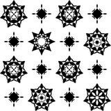 Muster von Kreiselementen stock abbildung