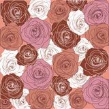 Muster von leidenschaftlichen Rosen Stockfotografie