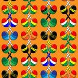 Muster von mexikanischen maracas Stockfotos
