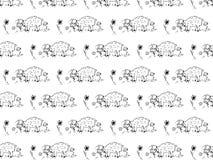 Muster von netten Schafen Lizenzfreie Stockfotos