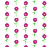 Muster von purpurroten, schönen, bunten, einfachen Blumen Stockbild