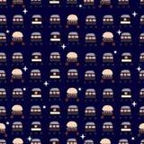 Muster von Raumflugobjekten lizenzfreie abbildung