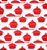 Muster von roten Töpfen Stockfotografie