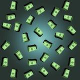 Muster von 5000 Rubeln Rechnungen Dollar-Regenhintergrund lizenzfreie abbildung