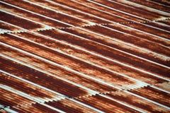 Muster von Rusted galvanisierte Eisenplatte, alte rostige Zinkplatte r Lizenzfreies Stockbild