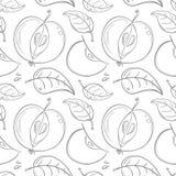 Muster von Schattenbildern des Apfels lizenzfreie abbildung