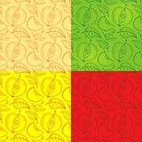 Muster von Schattenbildern von Apfelscheiben lizenzfreie abbildung