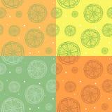 Muster von Schattenbildern von orange Scheiben lizenzfreie abbildung