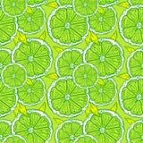 Muster von Schattenbildern von orange Scheiben auf einem grünen Hintergrund vektor abbildung