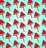 Muster von Scheiben der Wassermelone Stockfotos