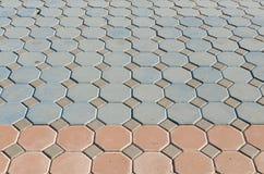 Muster von Steinblöcken Stockfoto