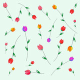 Muster von Tulpen Lizenzfreie Stockfotografie
