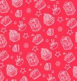 Muster von weißen Kuchen Lizenzfreie Stockbilder