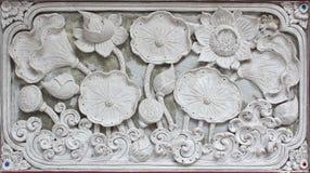 Muster-Wandgestaltungsquadrat der weißen Skulptur des Stucks dekoratives für Stockbilder