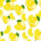 Muster Zitrone auf Weiß Lizenzfreie Stockbilder