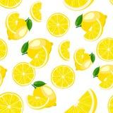 Muster Zitrone auf Weiß Stockbild