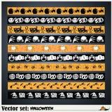 Muster, zum sich für den Feiertag Halloween vorzubereiten Lizenzfreies Stockbild